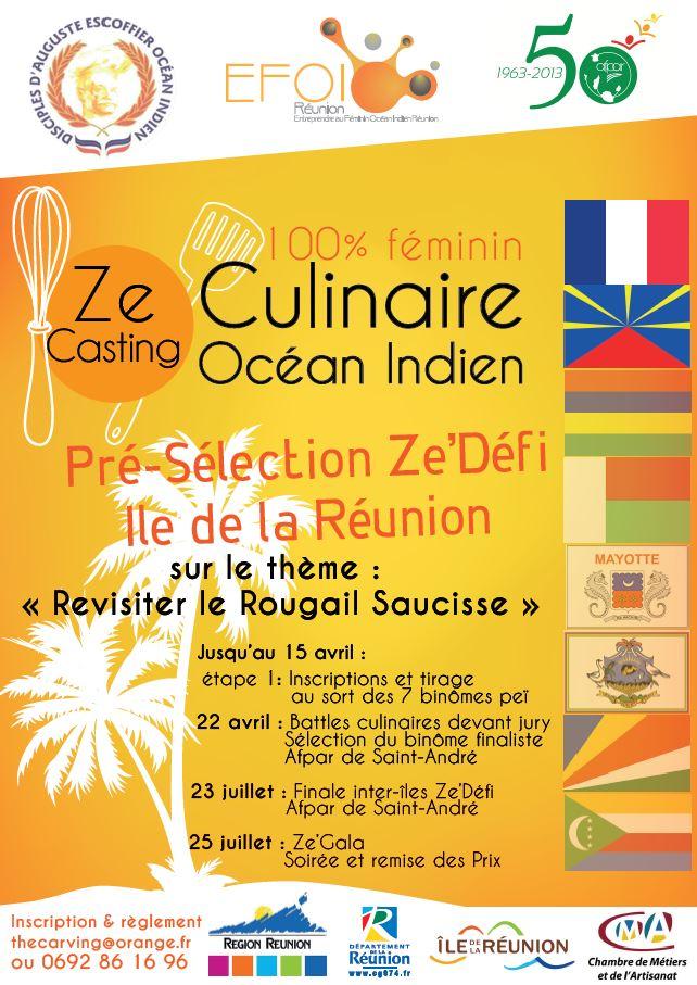 Efoir| Affiches Ze'Défi culinaire OI 2015