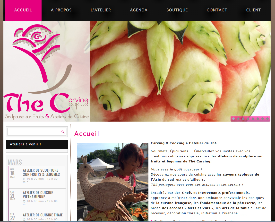 Thé Carving| Relooking | Site Web