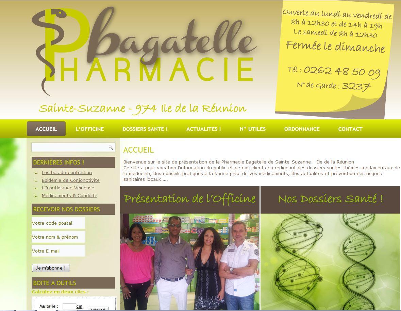 Pharmacie Bagatelle| Création site web