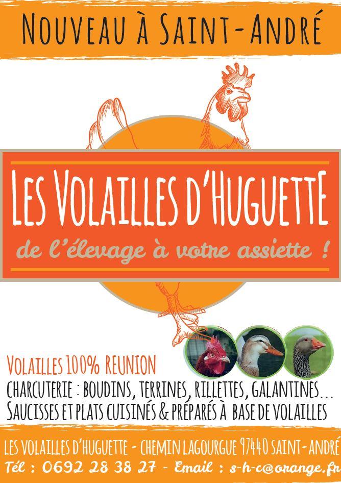 Volailles d'Huguette | PAO Flyer A5