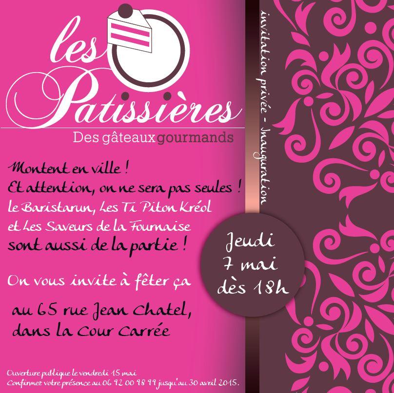 Les Pâtissières| Conception | Carton d'Invitation Inauguration
