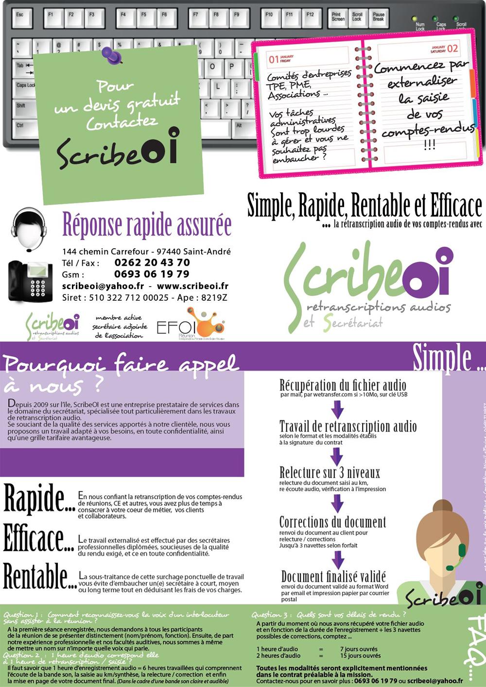 ScribeOI | PAO Plaquette & E-mailing | R° V°