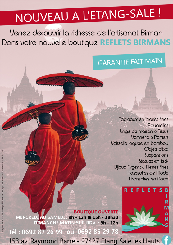 Reflets Birmans| Conception| Flyer