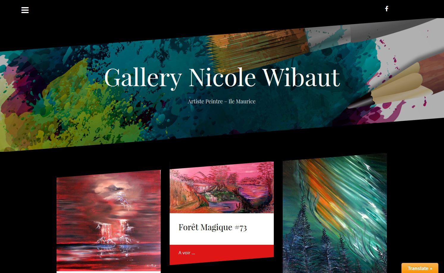 Nicole Wibaut, Artiste Peintre| Création du site web Gallery