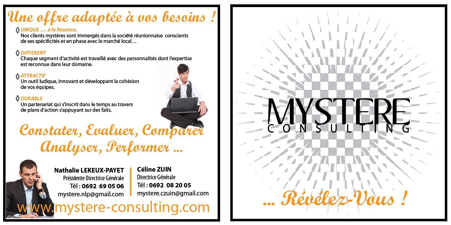 Mystère Consulting| Conception| Plaquette