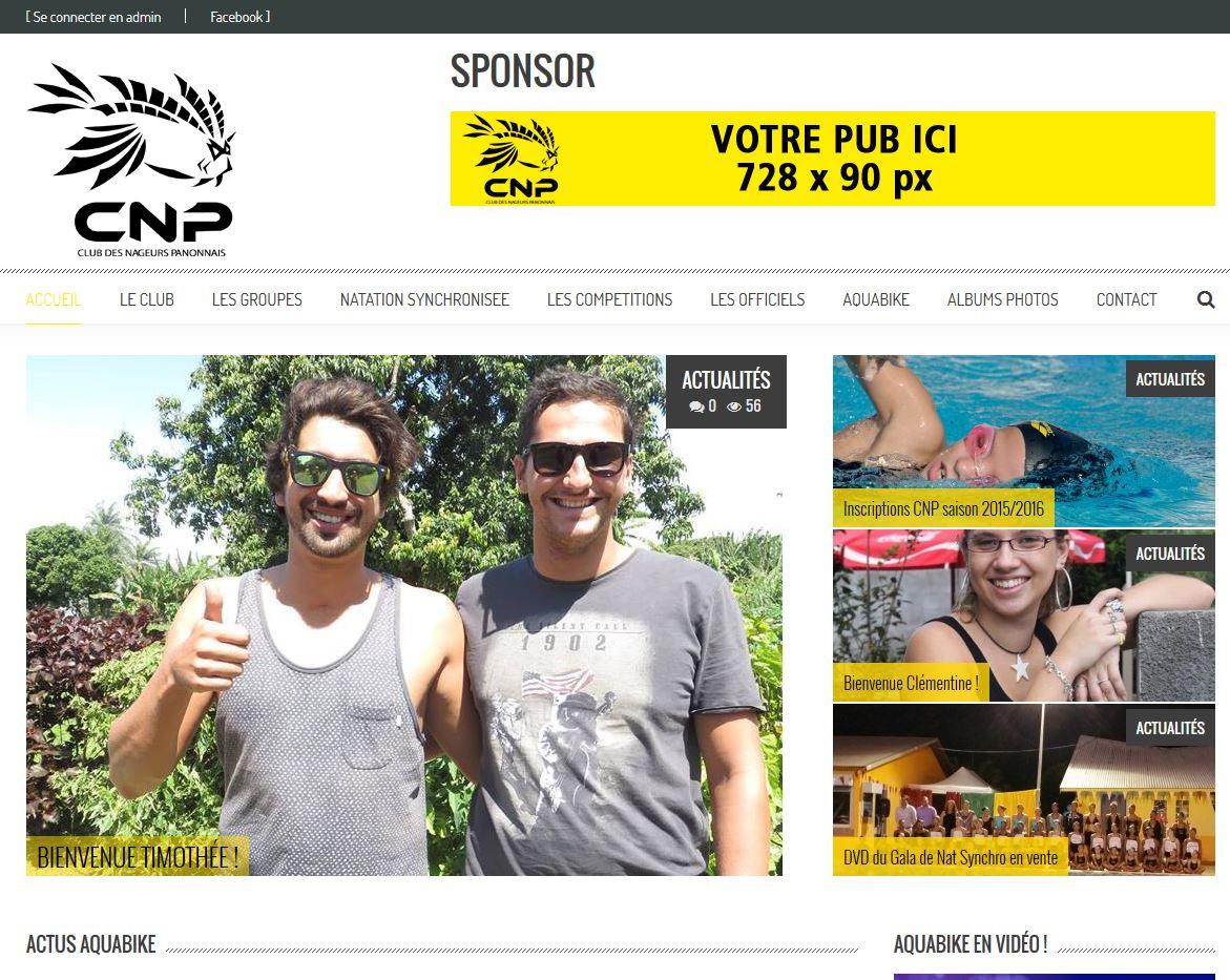 Club des Nageurs Panonnais – CNP| Création | Site WordPress