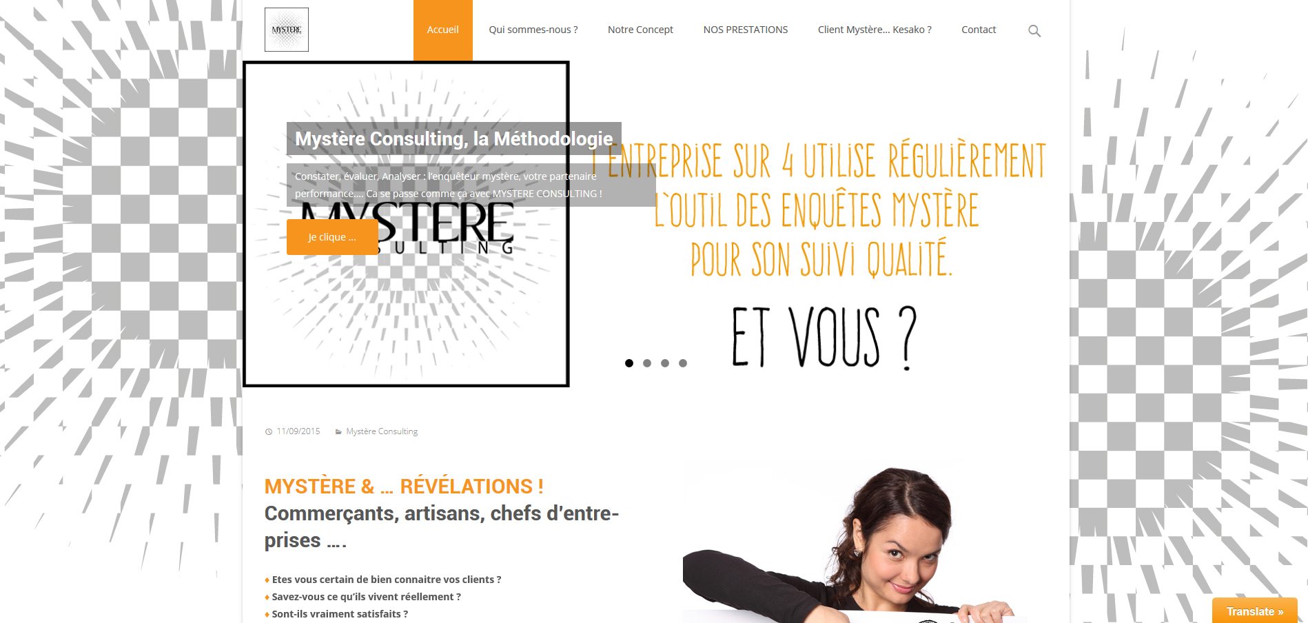 MYSTERE CONSULTING| Création | Site Web