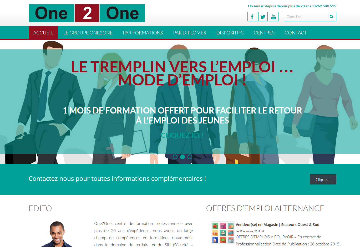 One2One Formation| Création | Site Web V2