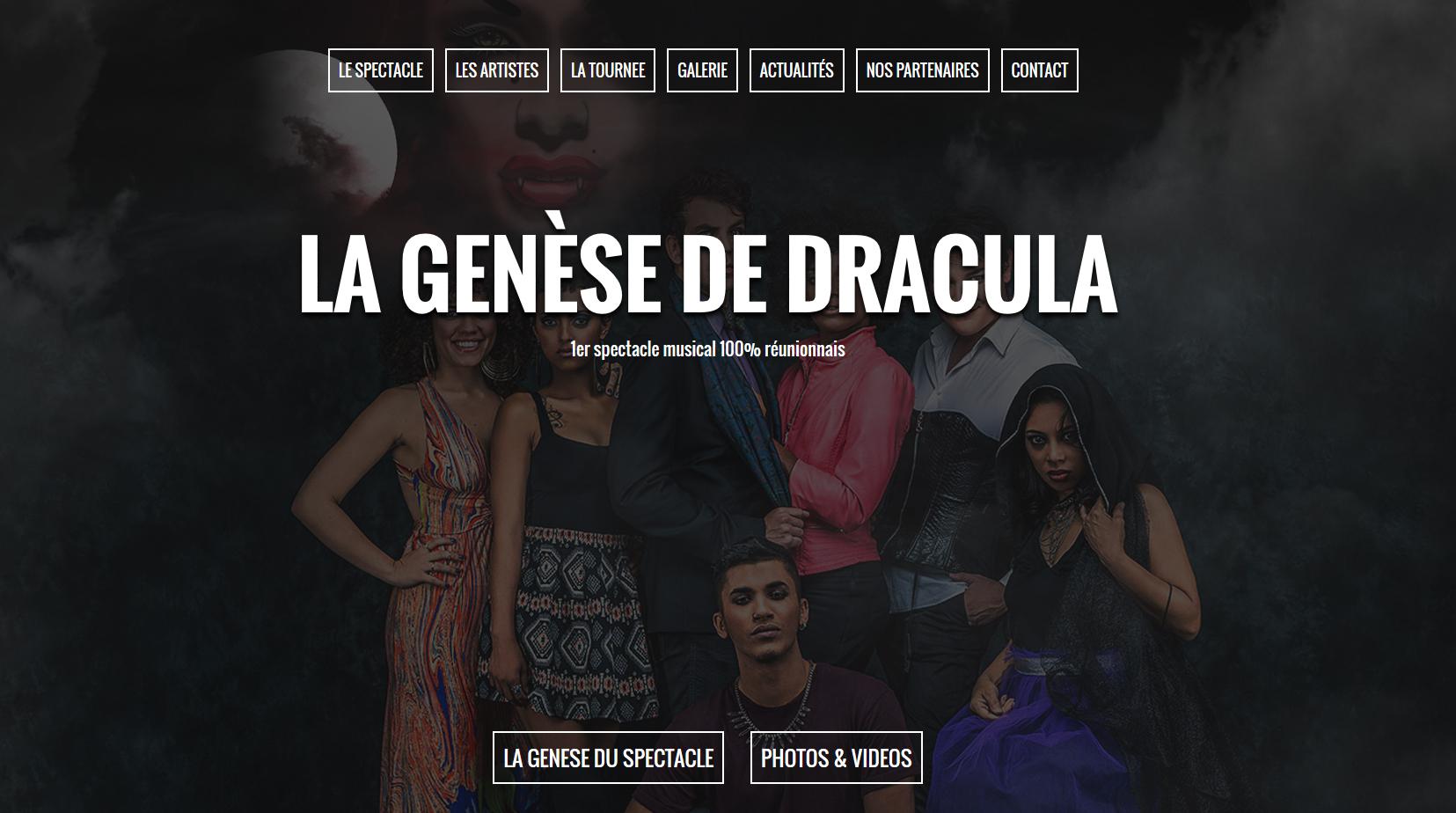 La Genèse de Dracula  Création   Site Web