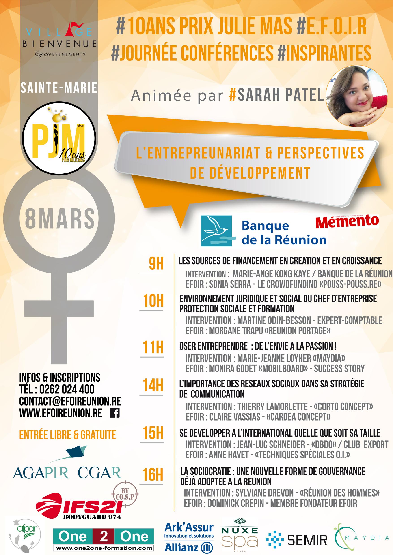 Efoir | PAO| Affiche Conférences PJM16