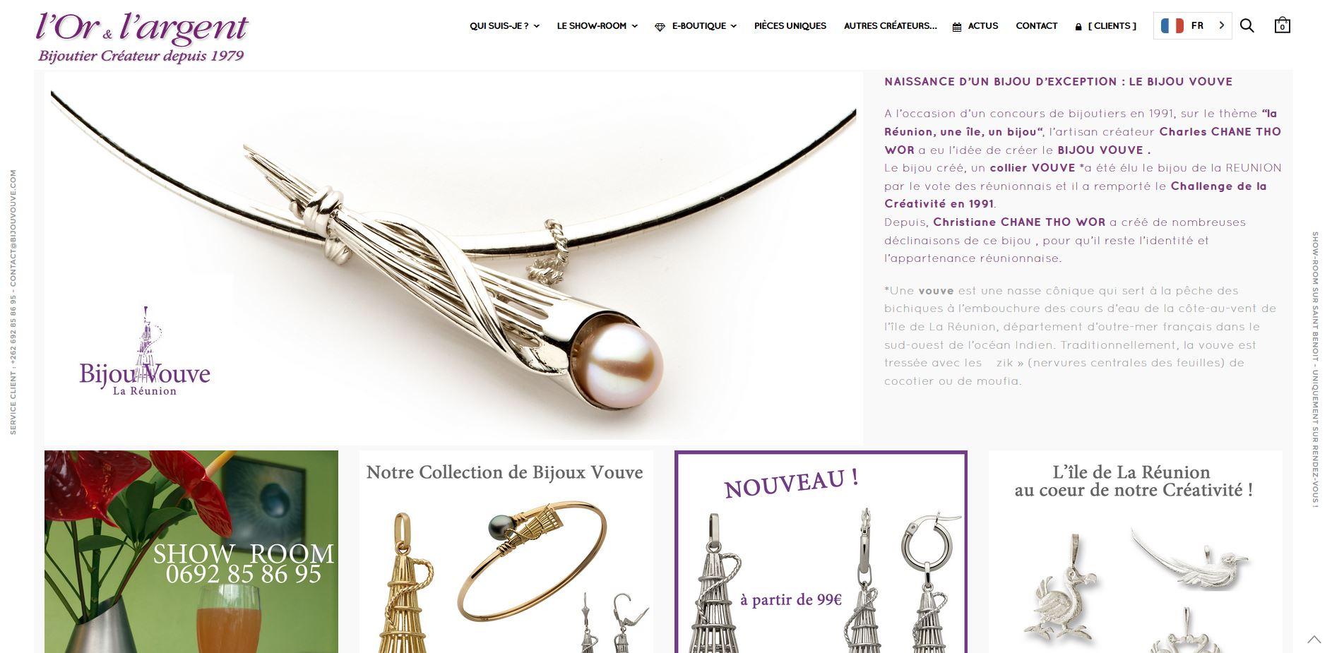 L'Or et l'Argent | Création | E-Boutique