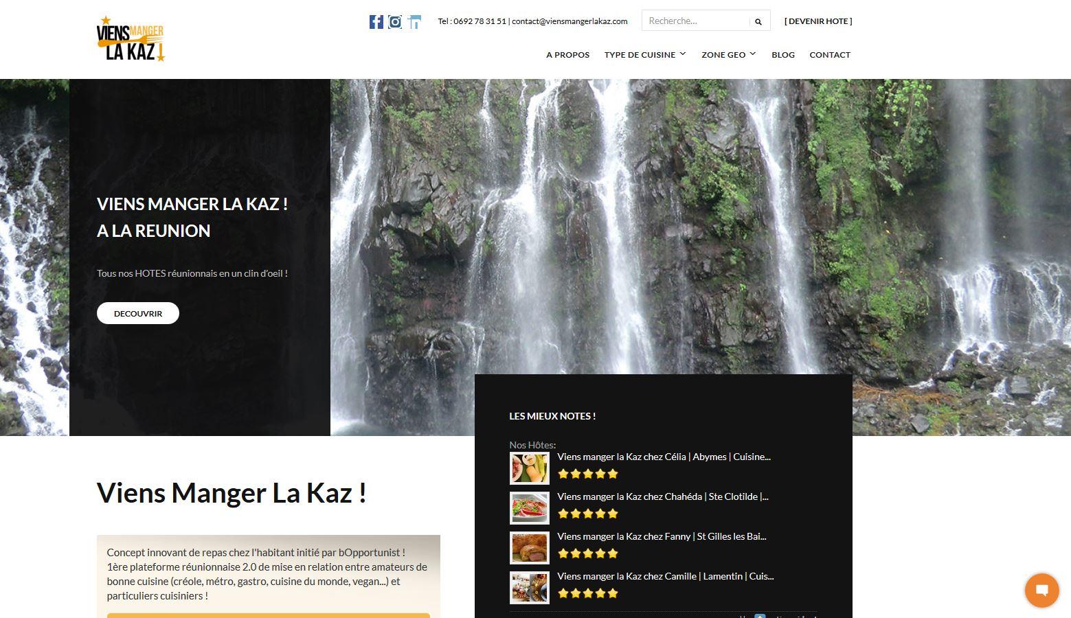 Viens Manger La Kaz | Site Web | Création