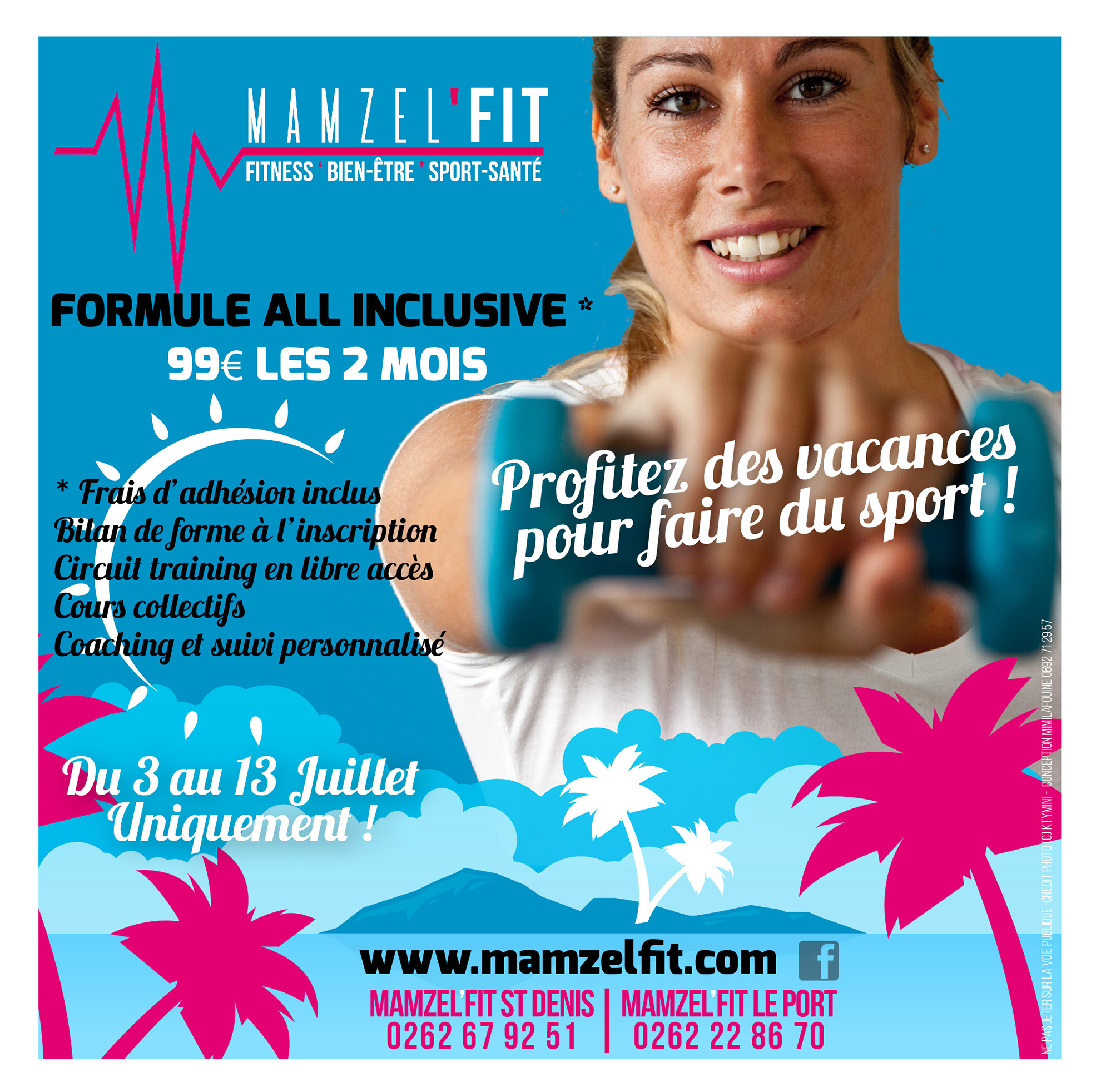 MAMZEL'FIT | Flyer | Conception