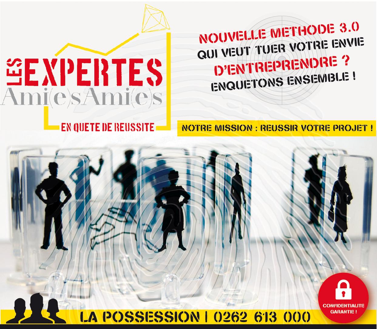 Les Expertes Amies Amies | Flyer | Conception