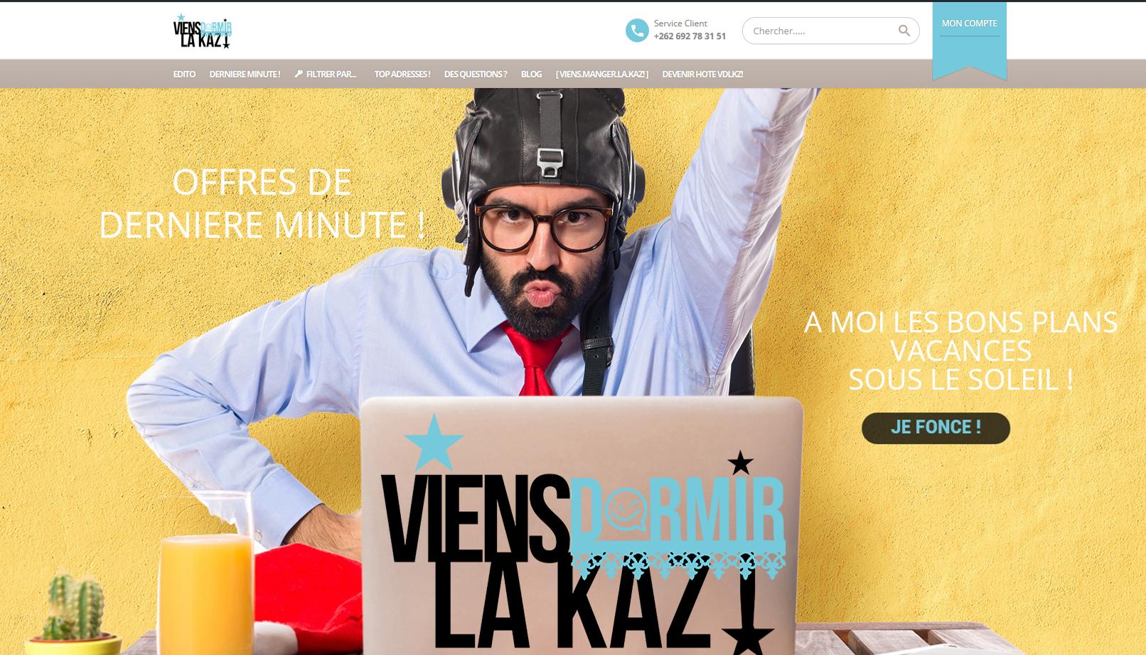 Viens Dormir La Kaz | Site Web | Création