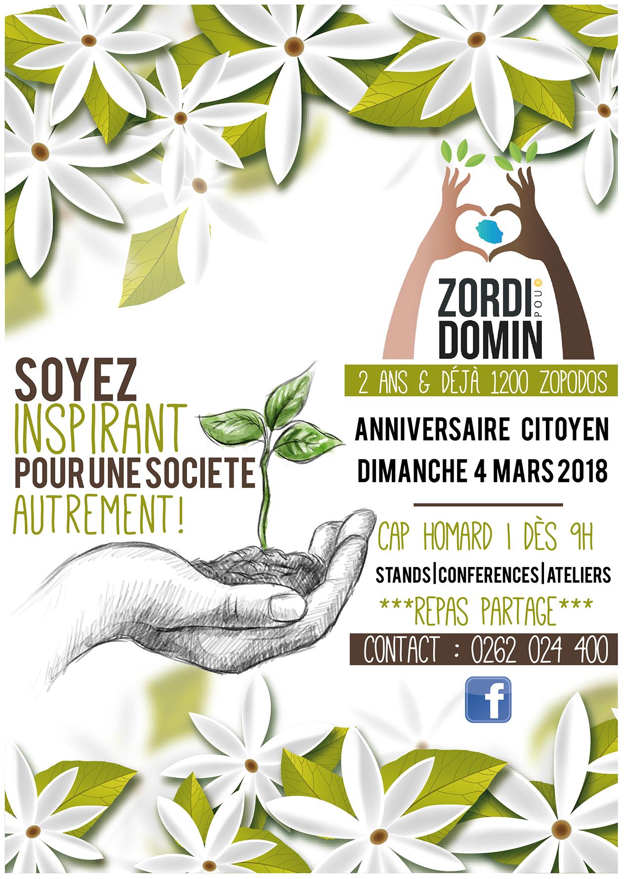 Zordi pou Domin | PAO | Affiche
