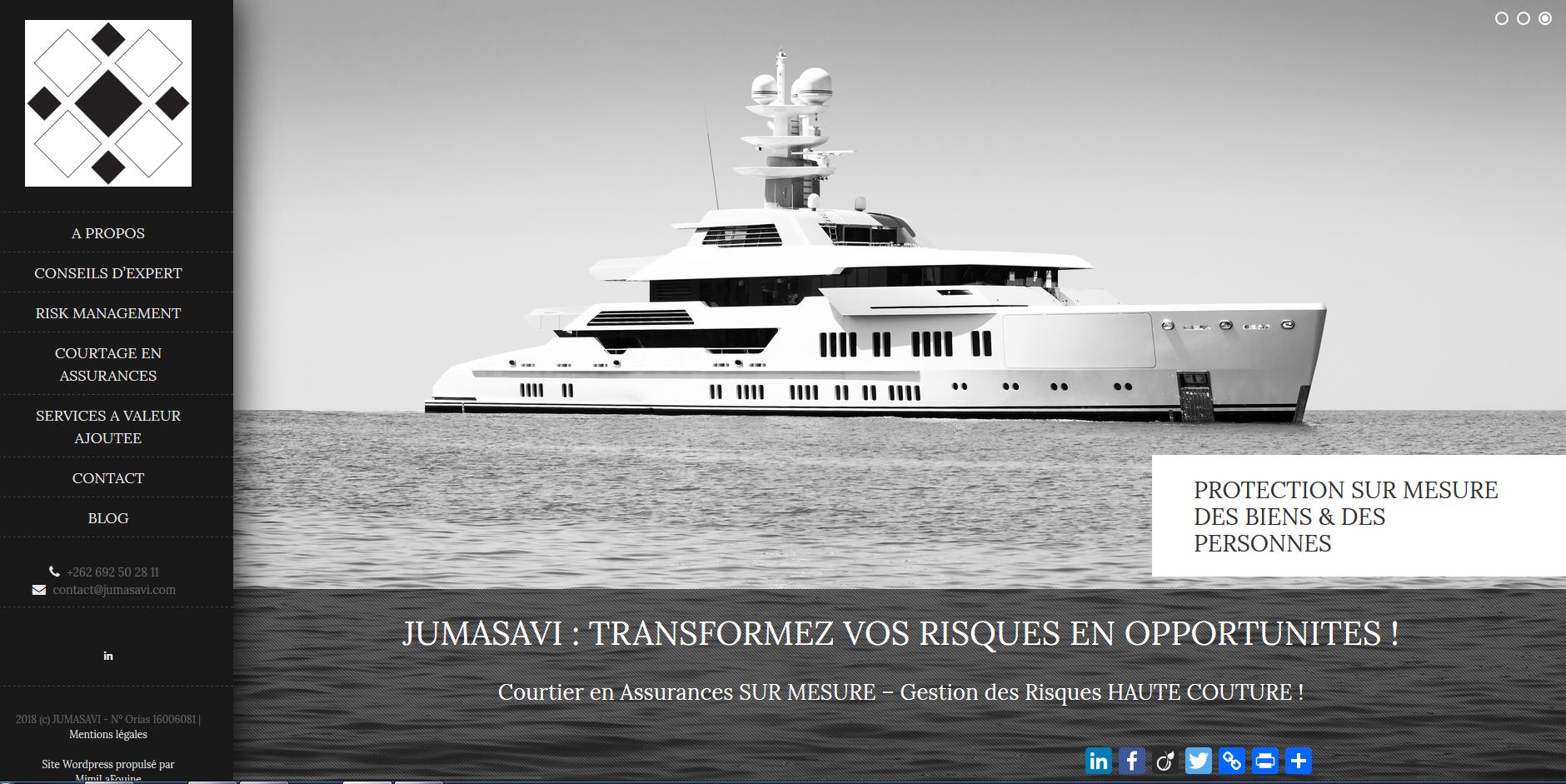 Jumasavi | Site Internet | Création