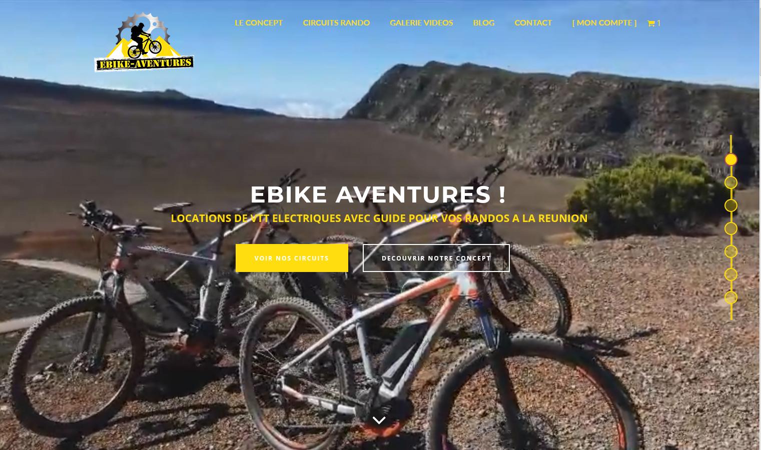 Ebike Aventures | Site de Location | Création