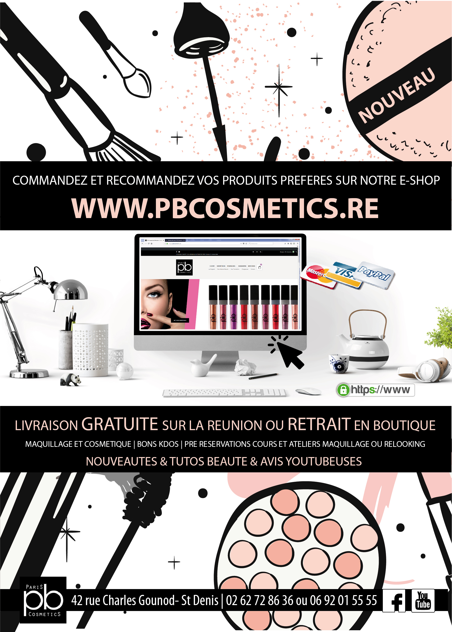 Pb Cosmetics Réunion | Site Marchand | Relooking