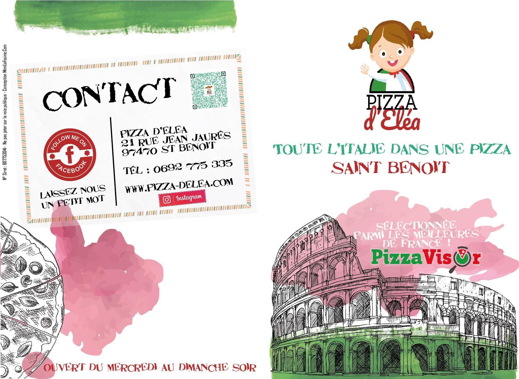 Pizza d'Elea | Menu | Conception