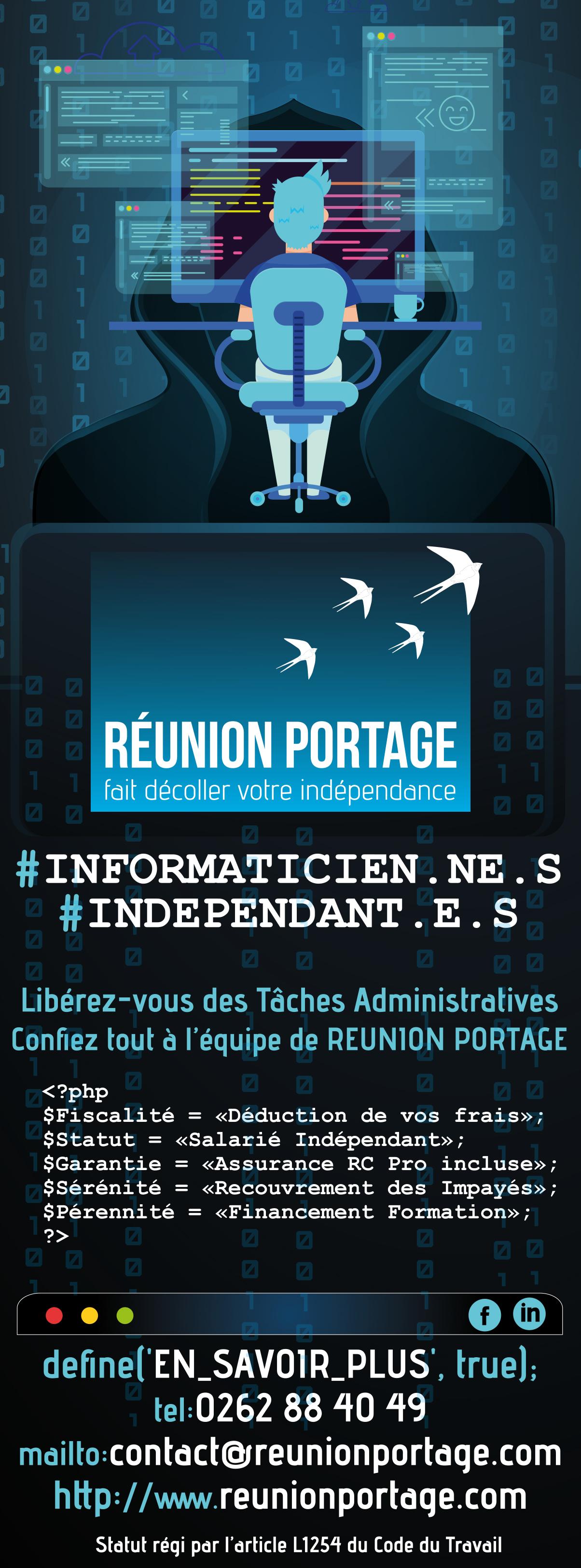 Réunion Portage | Visuel Pub | Conception PAO