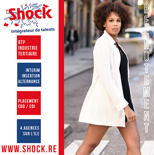 Shock Interim | Salon de l'Emploi | Conception PAO