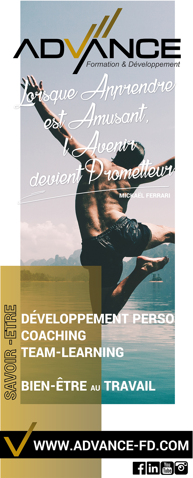 Advance Formation & Développement | Roll Up | Conception