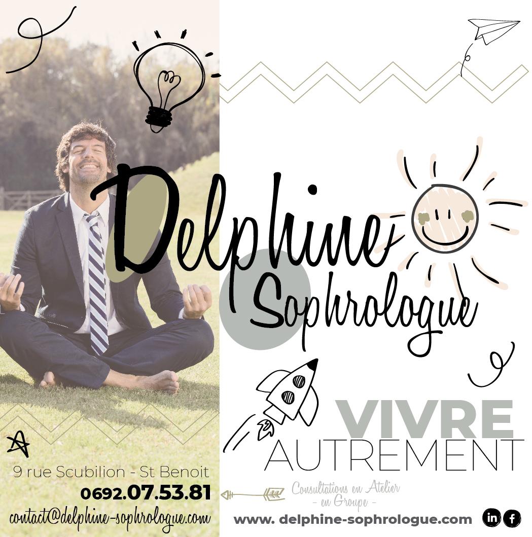 Delphine Sophrologue | Flyer | Conception