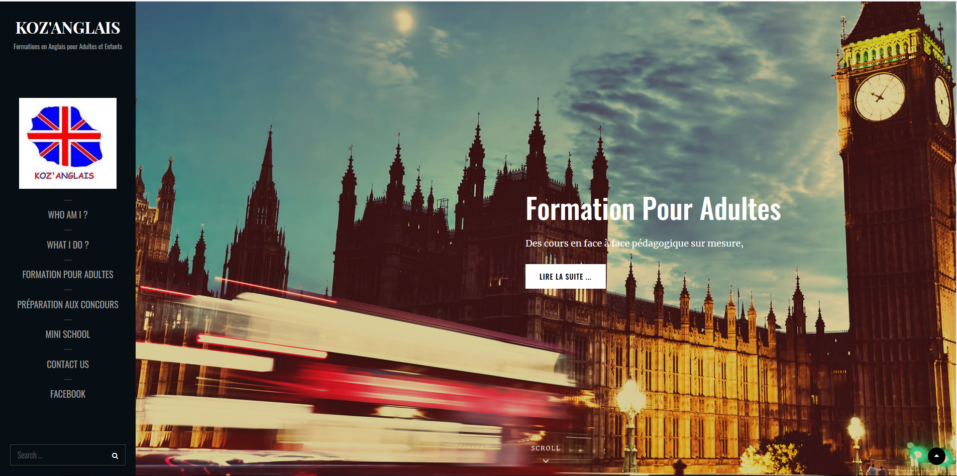 Koz'Anglais | Site Web | Relooking