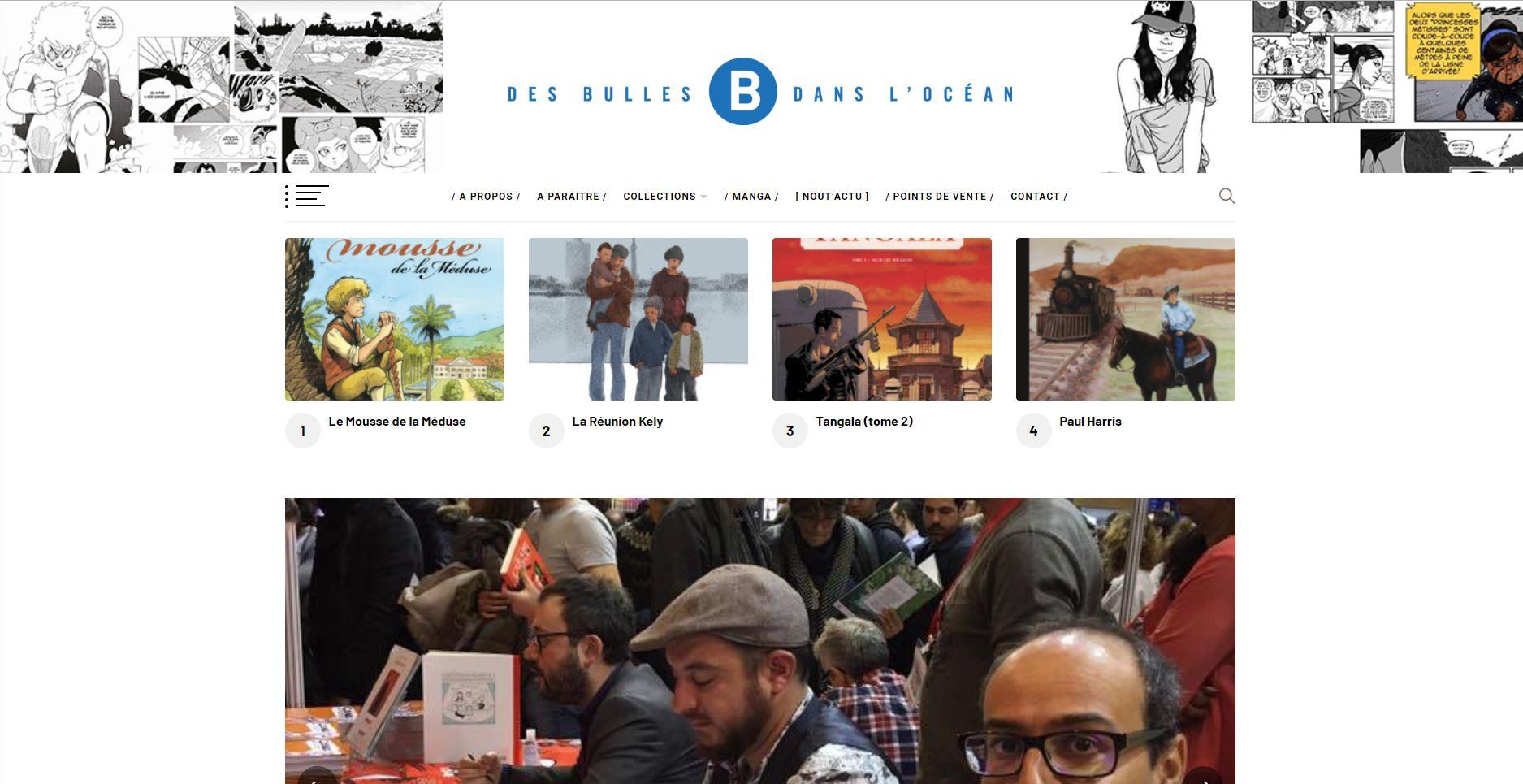 Des Bulles dans l'Océan | Site Web | Relooking