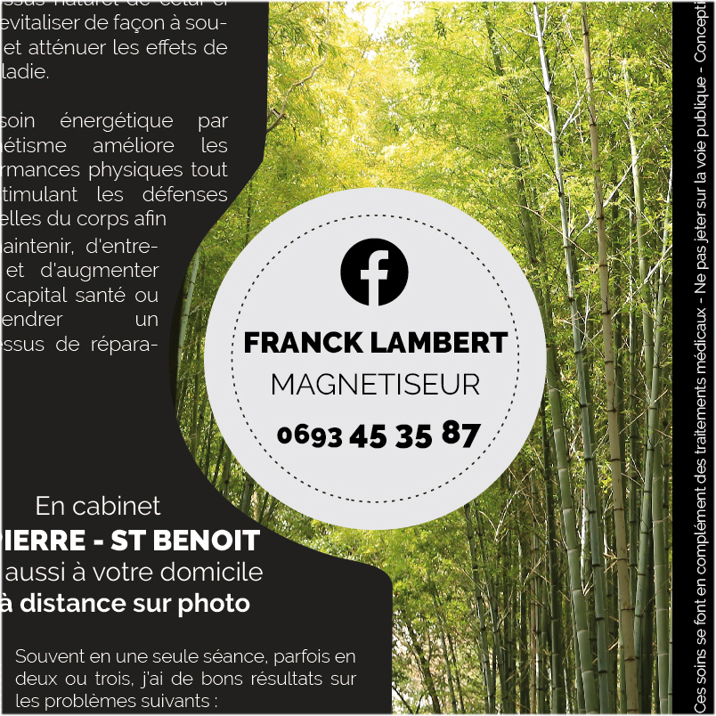 Franck L. Magnétiseur | Flyer | Conception