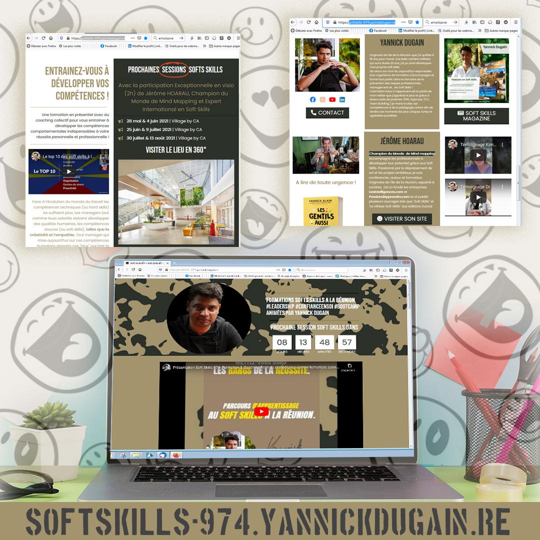 Soft Skills 974 | Landing Page | Création