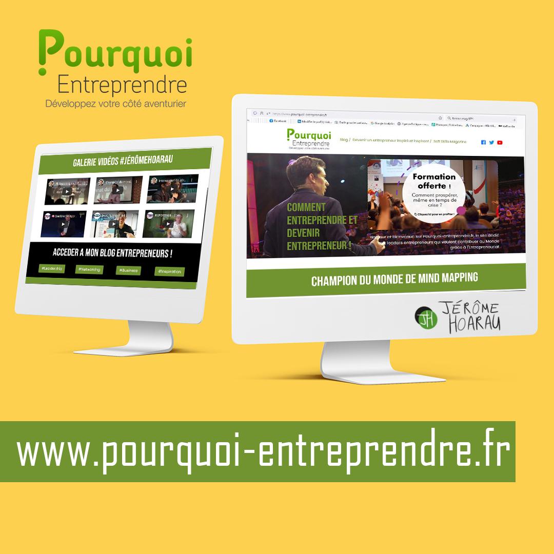 Pourquoi Entreprendre ? | Landing Page | Refonte